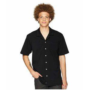 Publish Regular-Fit Black SS Button Shirt